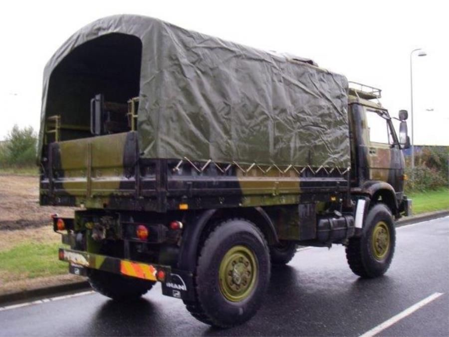 man 8 136 fae 4x4 ex army militaire d 39 occasion. Black Bedroom Furniture Sets. Home Design Ideas