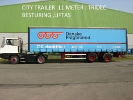 schuifzeil oplegger HRD Krone HRD 2 ass citytrailer , 11 mtr , TRIDEC sturing , 2500 kg laadklep 1999