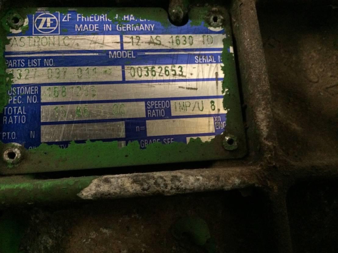 Automatische versnellingsbak vrachtwagen onderdeel ZF 12 AS 4630 TD, Astronic, 1327 037 011