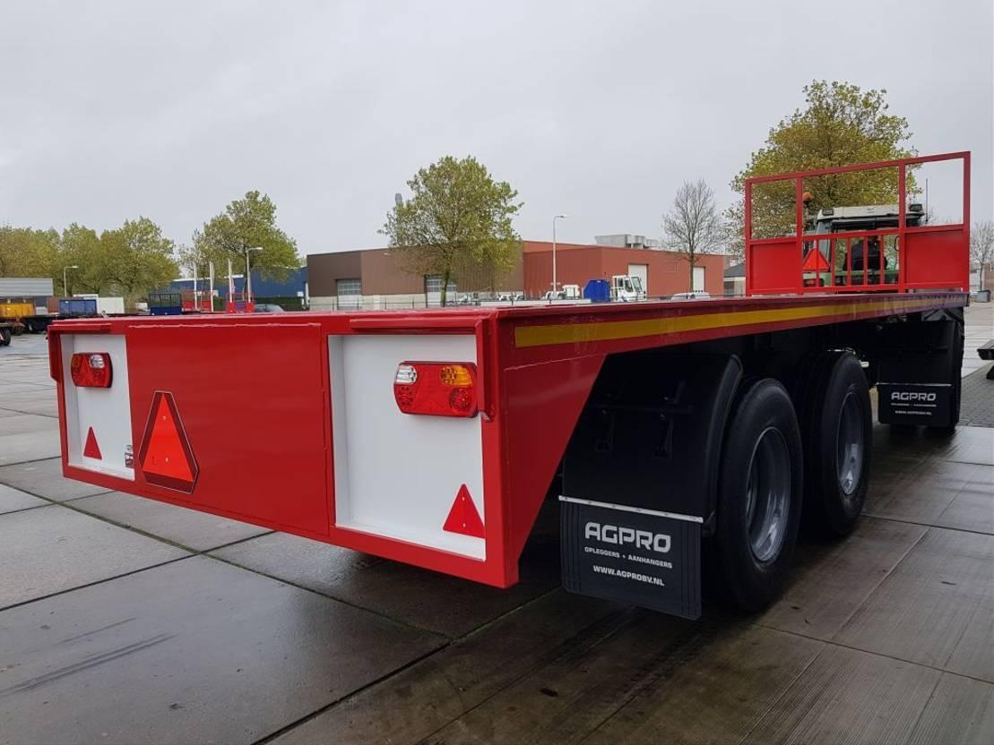 platte aanhanger vrachtwagen agpro 3A BLADGEVEERD