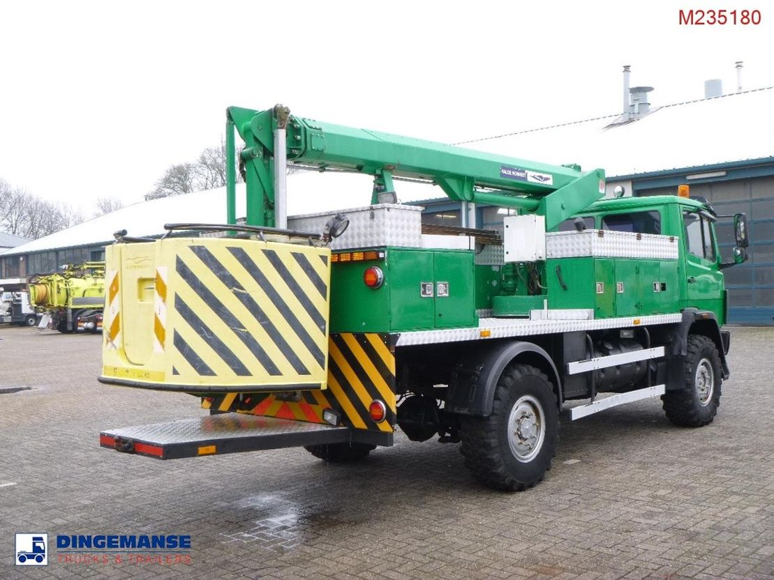autohoogwerker vrachtwagen Mercedes-Benz 1317AK 4x4 Falck Schmidt manlift 13 m 1997