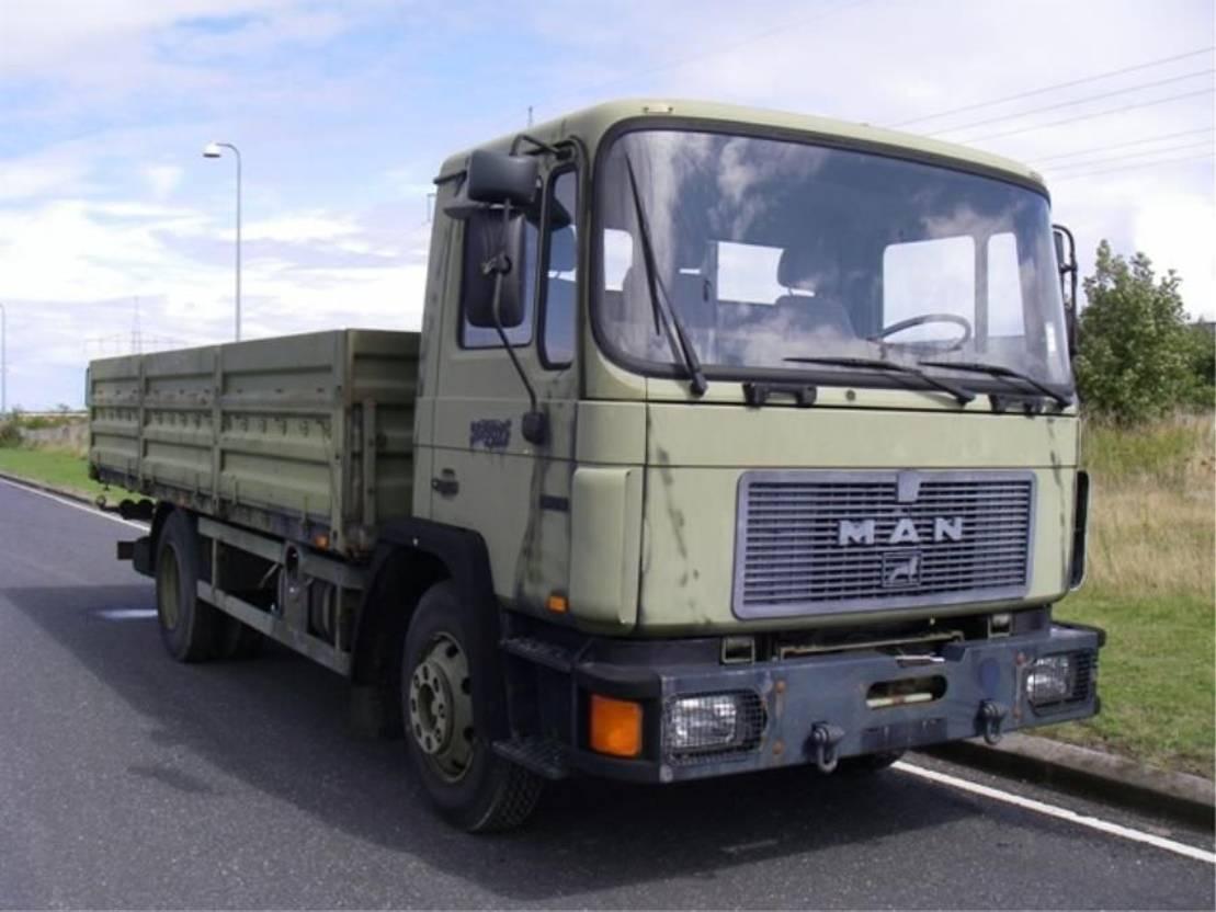 leger vrachtwagen MAN 13-192 F 1991