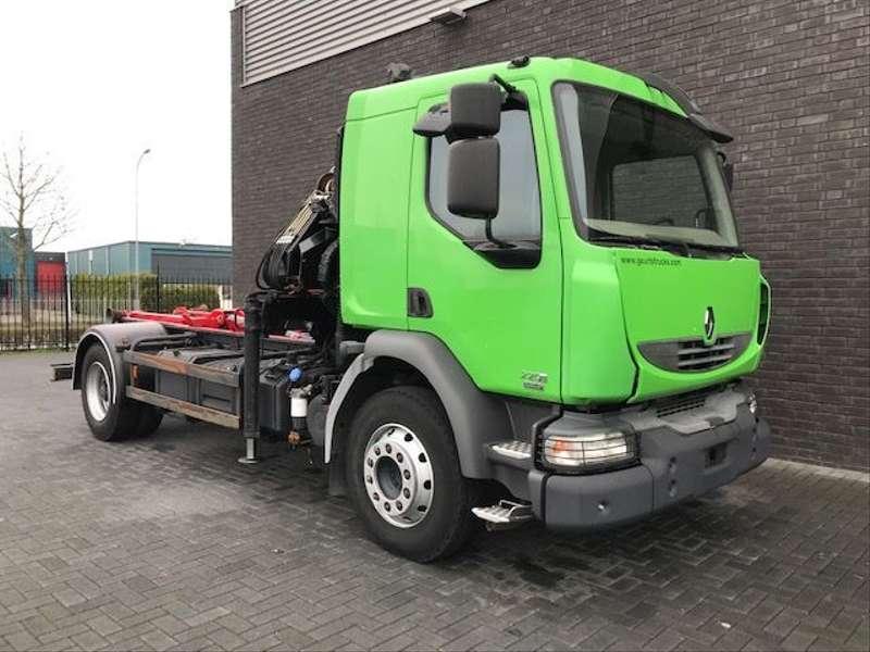 Renault - MIDLUM 4X2 HOOKLIFT + HIAB CRANE 5