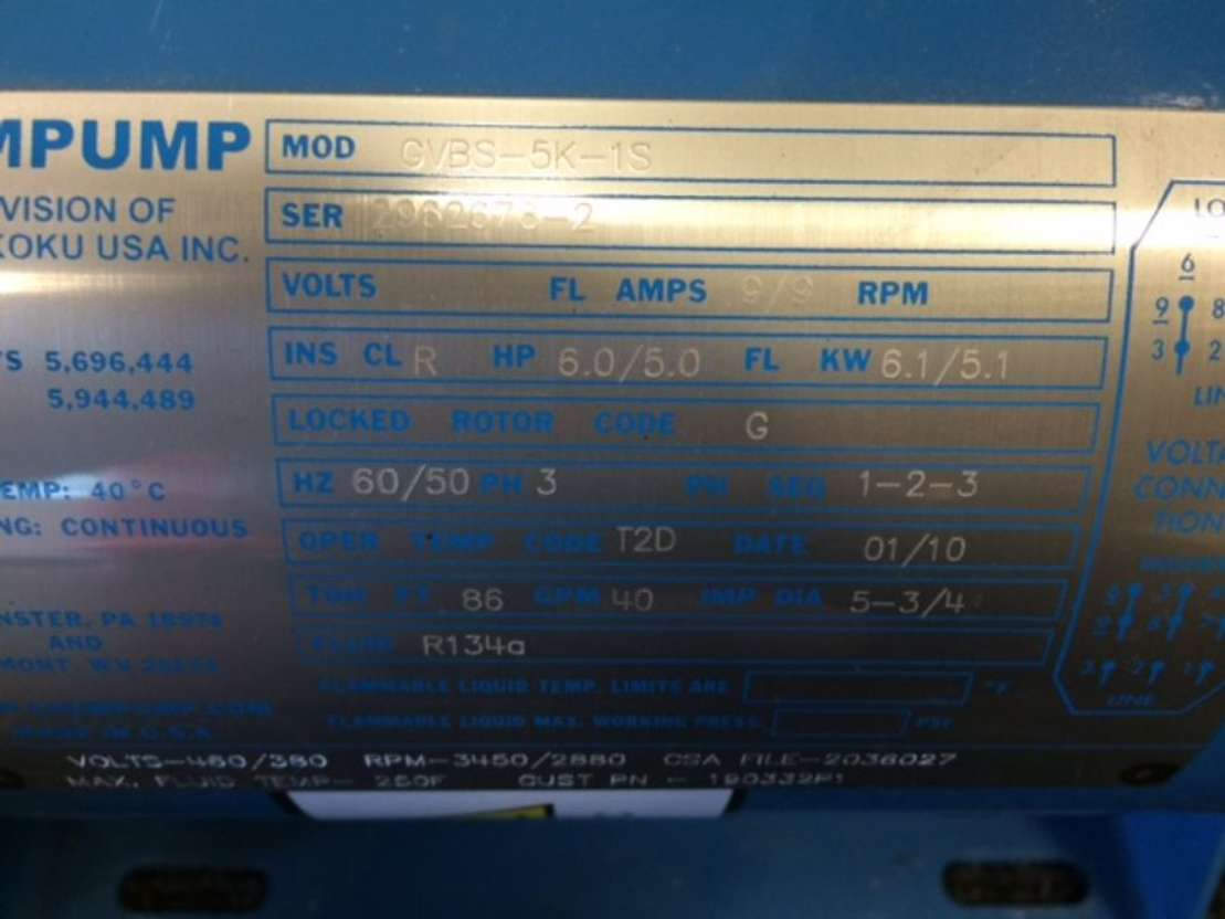 waterpomp machine Chempump GVBS-5K-1S 2019