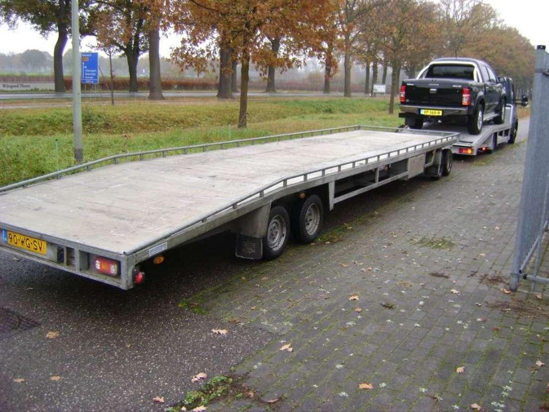 auto transporter aanhanger barents 2011