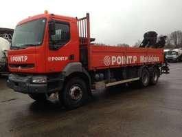 platform vrachtwagen Renault KERAX 320 DCI 6X4 + HIAB CRANE 2004