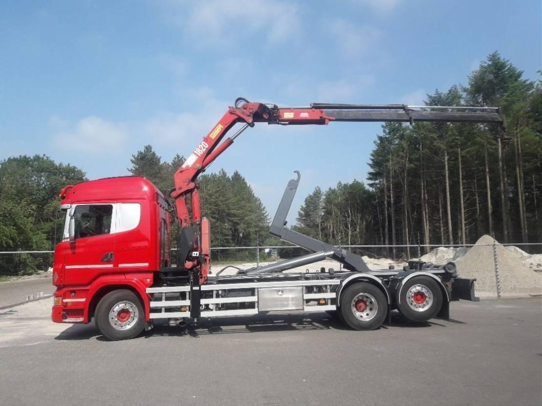 containersysteem vrachtwagen Scania R 480 6x2*4  euro 5 2012