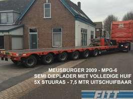 semi dieplader oplegger Meusburger MPG-6 / 6ass semi, 5x stuuras, 7,50 mtr uitschuifbaar, huif/schuifkap 2009