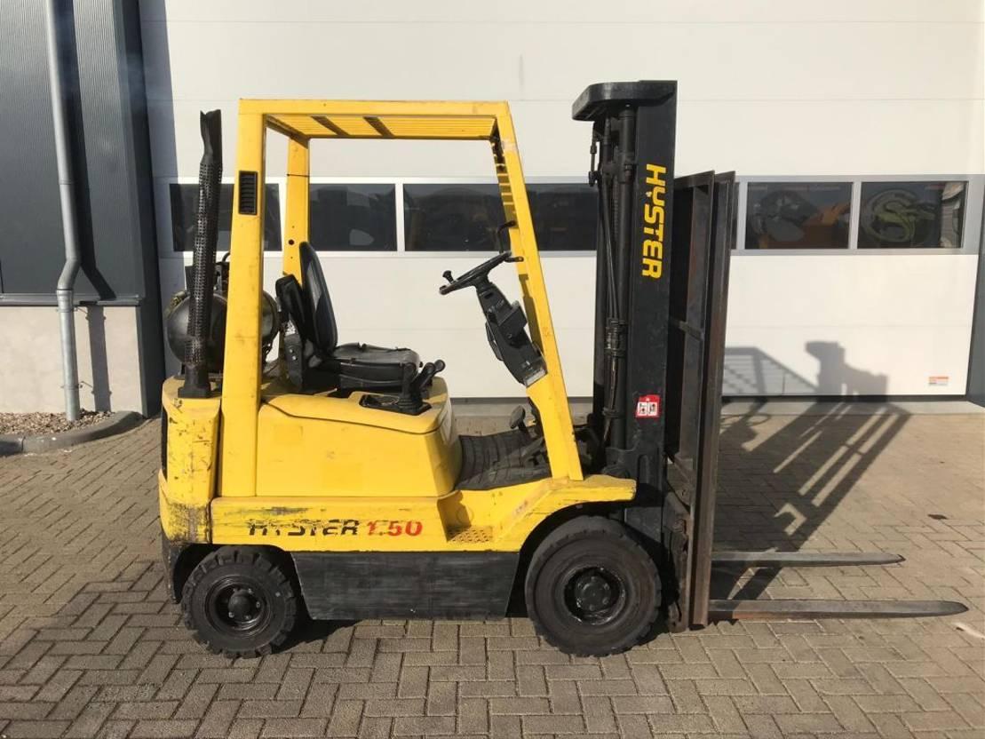 vorkheftruck Hyster 1.5 ton Duplex Doorkijkmast Sideshift LPG heftruck 2000
