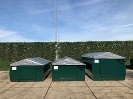 dry standaard zeecontainer Mestcontainer met dak en deur
