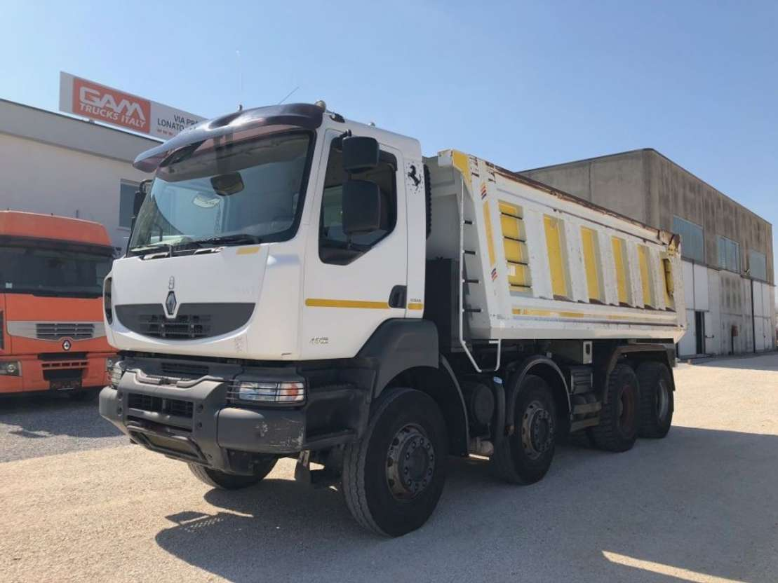 kipper vrachtwagen Renault Kerax 450 DXi 8x4 TIPPER 2008