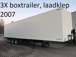 gesloten opbouw oplegger spier BOXTRAILER MET 2000 KG ONDERVOUWKLEP , 2.70 hoog 2007