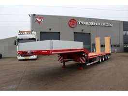 semi dieplader oplegger Hangler 4-axle machinery trailer 3600mm ramps 2019
