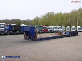 platte oplegger King 4-axle lowbed trailer 104 t / 9.6 m / 4 steering axles 2000