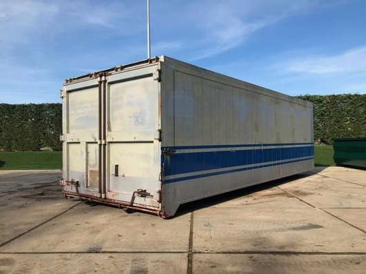 dry standaard zeecontainer Aluminium 35m3 Afzetcontainer