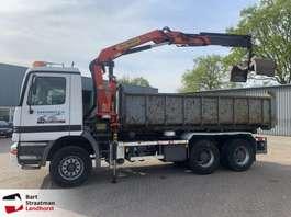 containersysteem vrachtwagen Mercedes Benz 2631 6x4 kabelsysteem met Palfinger kraan original 336.000 km!!! 1997