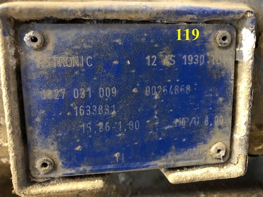 Automatische versnellingsbak vrachtwagen onderdeel ZF 15 UNITS, ASTRONIC, 12 AS 1930 TD 2004