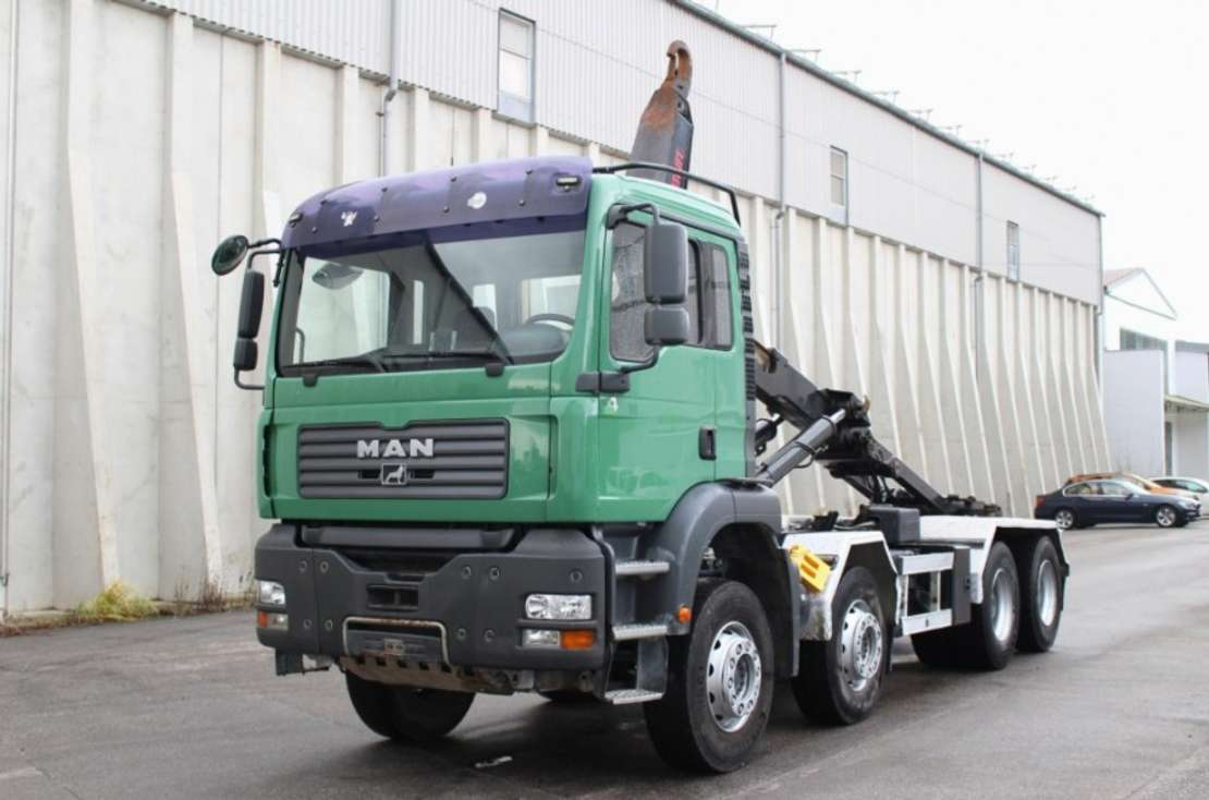 wissellaadbaksysteem vrachtwagen MAN TGA35.430 8x4 Euro 4 AHK Multilift Leasing 2006