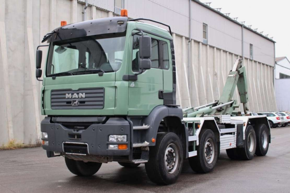 wissellaadbaksysteem vrachtwagen MAN TGA35.430 8x4 Euro4 Manuell Retarder AHK Leasing 2005