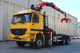wissellaadbaksysteem vrachtwagen Mercedes Benz Actros 3240 Kran 2011 8x4 E3 Leasing 2001