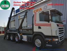 wissellaadbaksysteem vrachtwagen Scania G 480 8x4 Tele Gerken Adonis 24.5t. NL Lenk Lift 2010