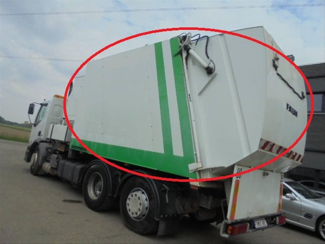 Opbouw vrachtwagen onderdeel Faun Occ Vuilniswagen opbouw 2004