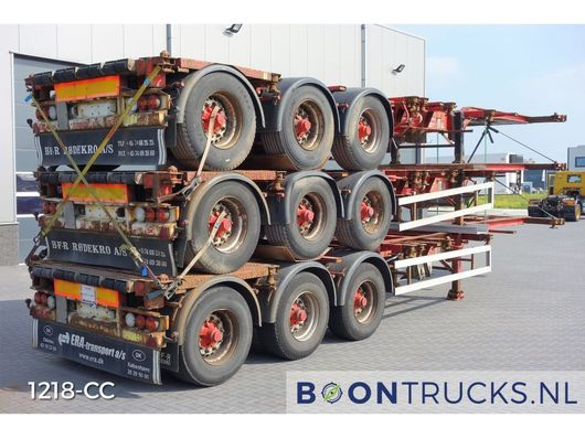 container chassis oplegger HFR SB24 - STACK PRICE EUR 12750 | 20-30-40-45ft HC * DISC BRAKES * 2005
