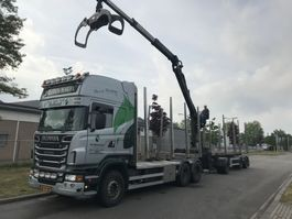 houttransporter vrachtwagen Scania R500 B 6X4 NAAFREDUCTIE 2011
