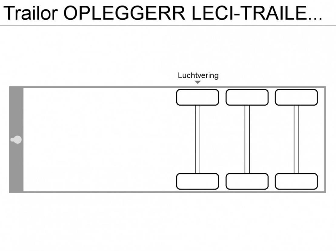 schuifzeil oplegger Trailor OPLEGGERR LECI-TRAILER  3-ASSER 2001