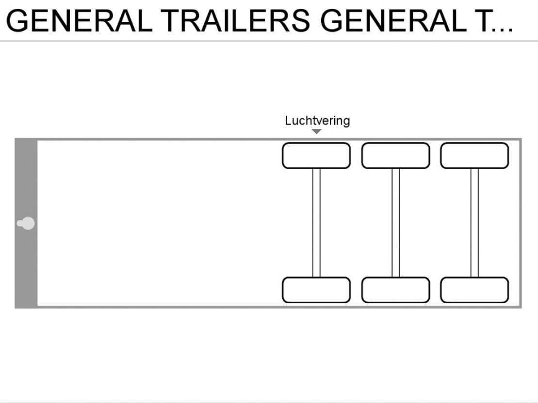 schuifzeil oplegger General Trailers GENERAL TRAILER 3-ASSER   **SCHRIJFREMMEN** 2001