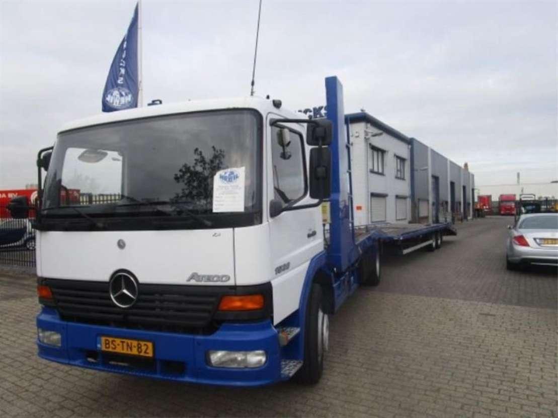 autotransporter vrachtwagen Mercedes Benz MERCEDES ATEGO 1528 MANUEL-GEARBOX 2000