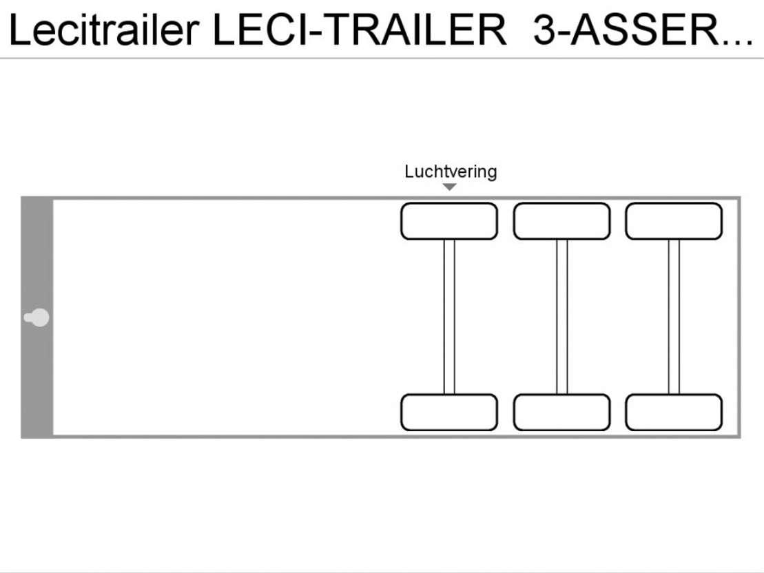 schuifzeil oplegger LeciTrailer LECI-TRAILER  3-ASSER   *SCHRIJFREMMEN* 2002