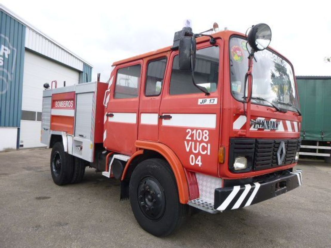 brandweerwagen vrachtwagen Renault JP 13 FIRETRUCK C-34 1986