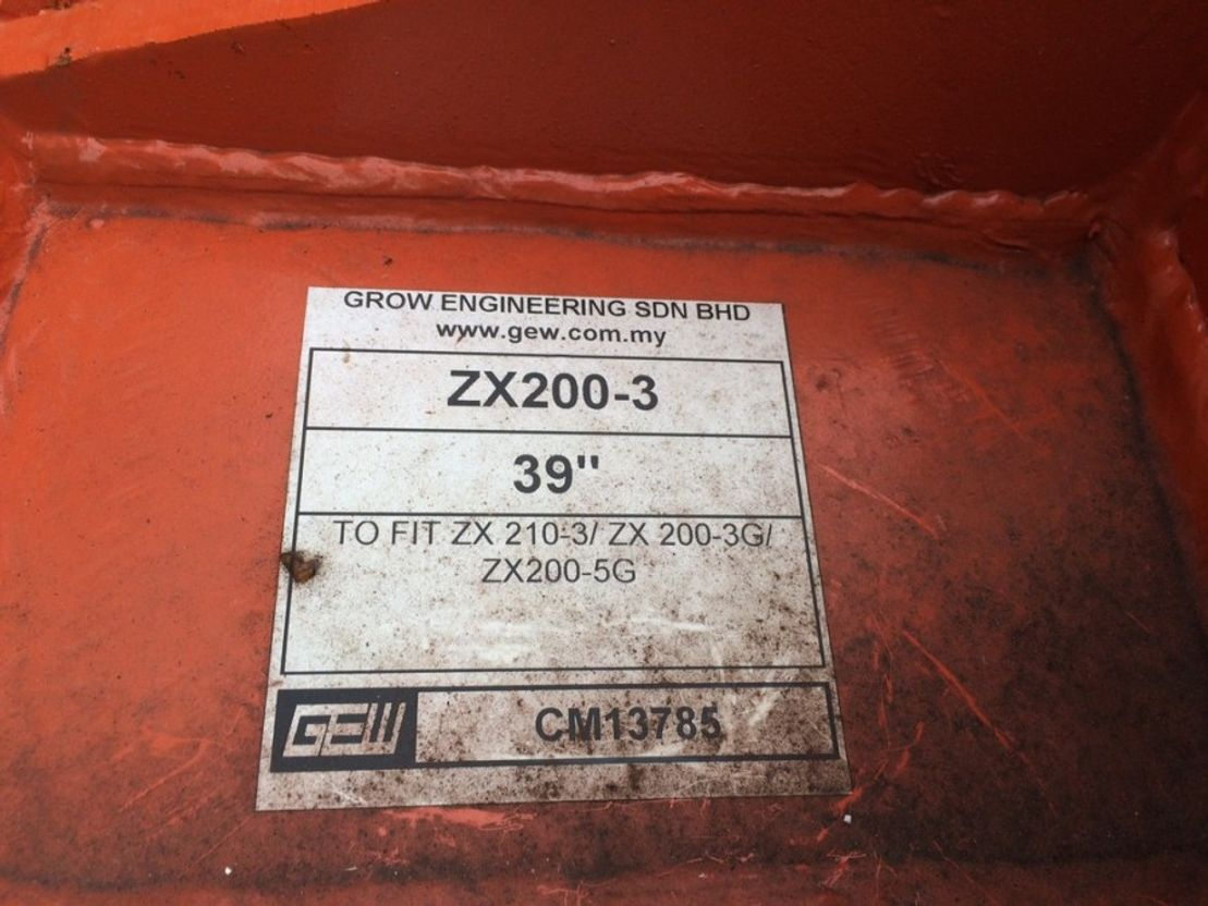 graafbak Hitachi ZX200-3/ZX210-3/ZX200-3G/ZX210-5G 39 inch Digging Bucket 2018