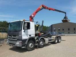 containersysteem vrachtwagen Mercedes Benz 3241 K - 8x4 - 81.680 Km - HMF 16 T/M LAADKRAAN -Z- + CONTAINERHAAK 2012