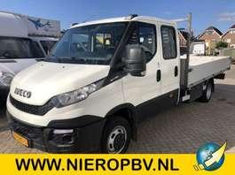 platform bedrijfswagen Iveco daily 50C17 dub cab open laadbak 2015