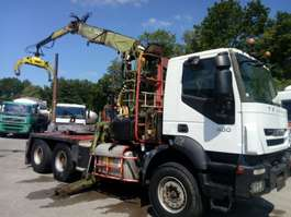 houttransporter vrachtwagen Iveco TRAKKER 6X4 LOGLIFT F241SL 2008