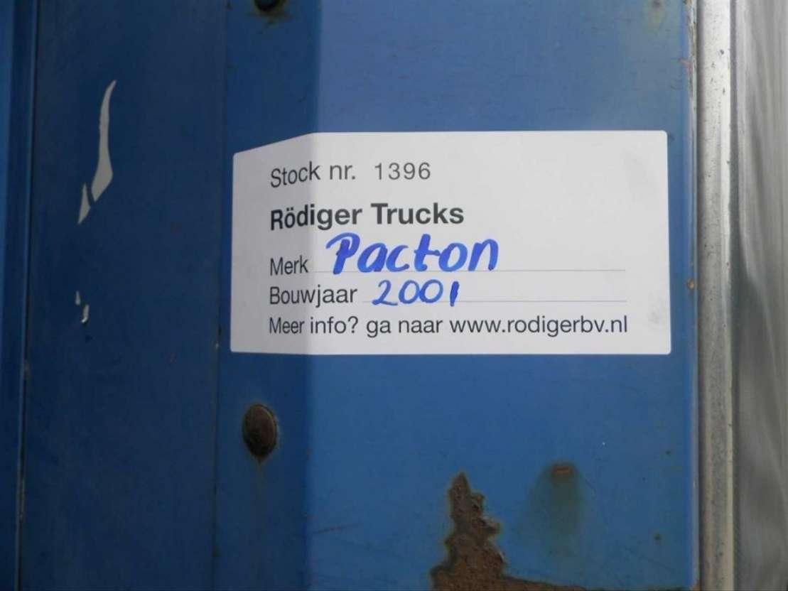 schuifzeil oplegger Pacton 3-assige oplegger 2001
