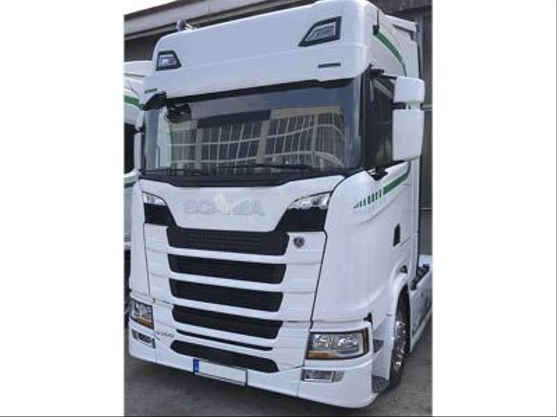 chassis vrachtwagen onderdeel Scania Scania Next gen zonneklep