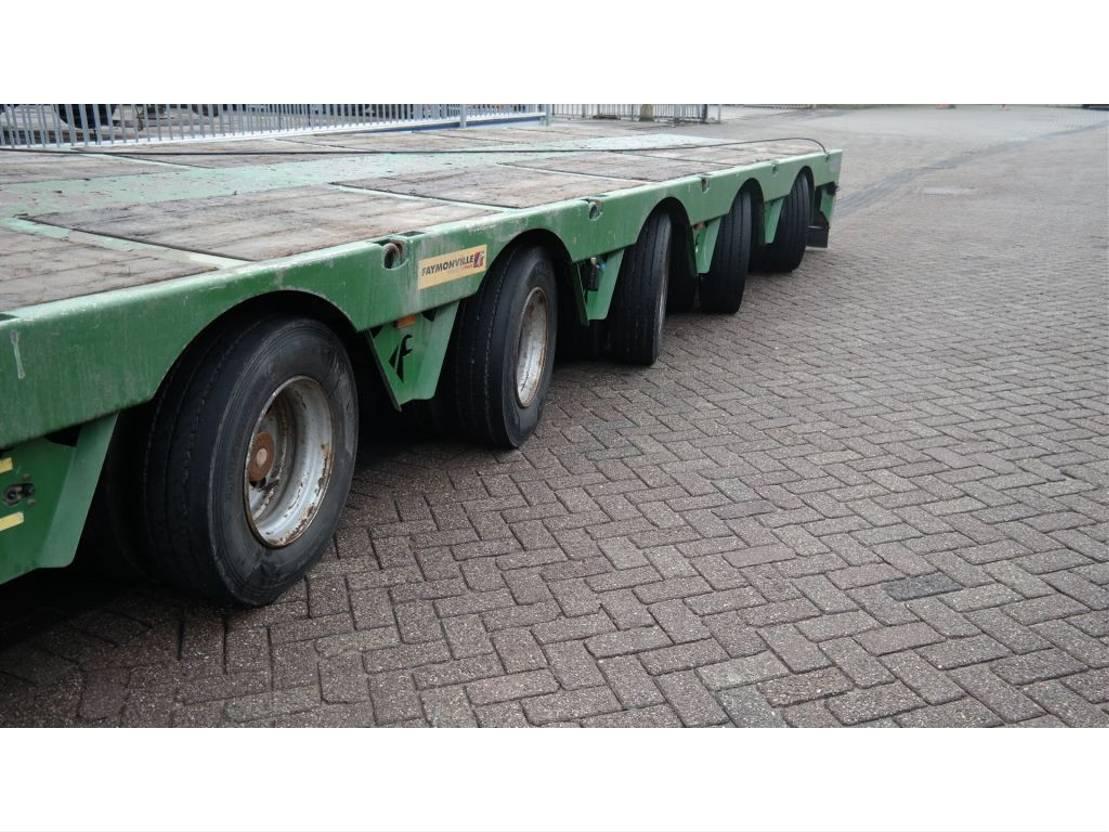 semi dieplader oplegger Faymonville 7 AXLE SEMI LOW LOADER 950 CM EXTENDABLE 2011