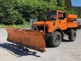 vuilniswagen vrachtwagen Unimog 424 / U 1000 ** Winterdienst / Kipper ** 1980