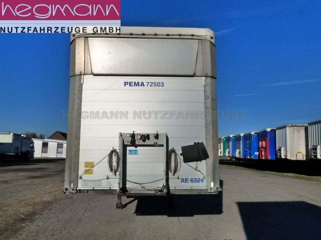 huifzeil aanhanger Schmitz Cargobull SCS 24/L-13.62 E DB, Hubdach, Scheibenbremse, Schwedenrungen 2013