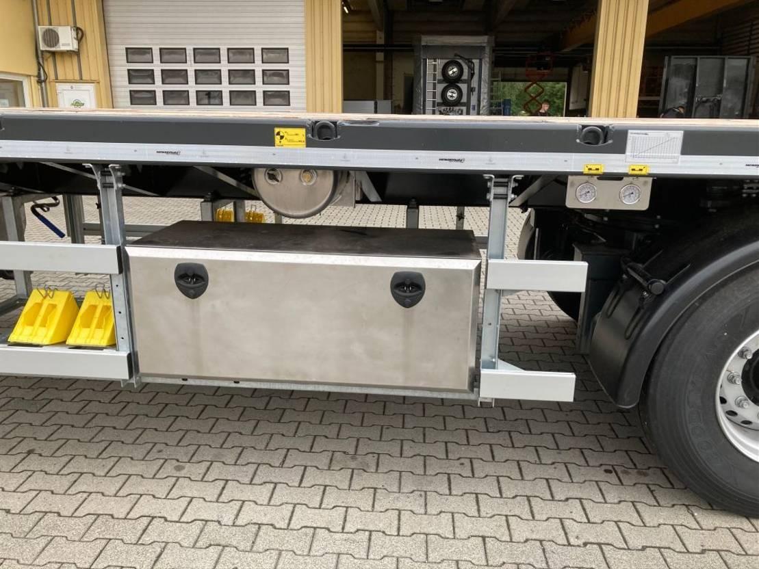 platte aanhanger vrachtwagen Faymonville 3-Achs-Tele-Plateau-Auflieger zwangsgelenkt