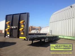 platte aanhanger vrachtwagen HRD 3-Achs-Mega-Tele-Plateau-Auflieger
