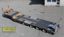 semi dieplader aanhanger Meusburger 4-Achs-Tele-Semi-Auflieger Bau