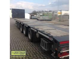platte aanhanger vrachtwagen HRD 3-Achs-Mega-Tele-Plateau-Auflieger 2015