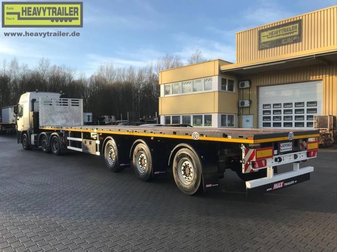 platte aanhanger vrachtwagen Faymonville Maxtrailer 3-Achs-Tele-Plateau zwangsgelenkt