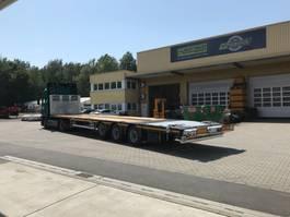 platte aanhanger vrachtwagen Faymonville Maxtrailer 3-Achs-Mega-Plateau mit abklappbarem Heck