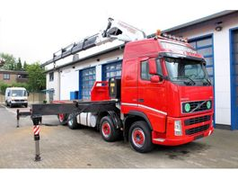 takelwagen-bergingswagen-vrachtwagen Volvo FH 12 460 8x2 Pritsche+Kran Fassi F1000XP Autokran 2005