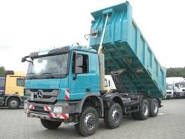 open laadbak vrachtwagen Mercedes Benz Actros 4141 8x6 4 Achs Muldenkipper Meiller 17m³